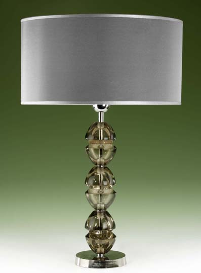 Filled Glass Table Lamp